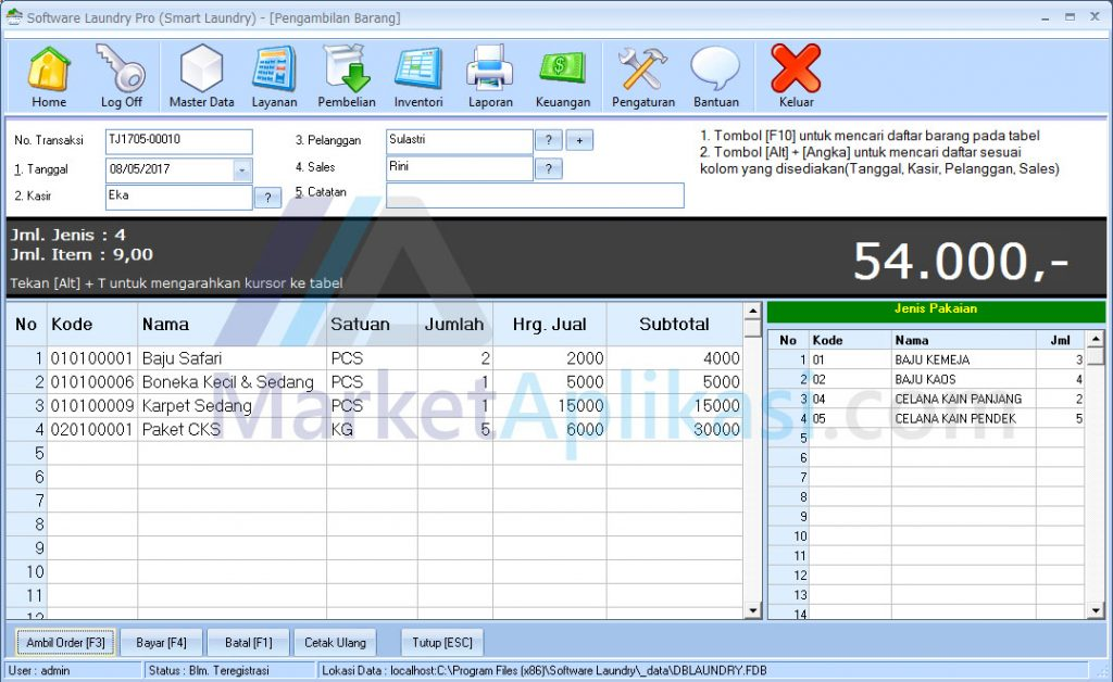 Layanan Software Laundry
