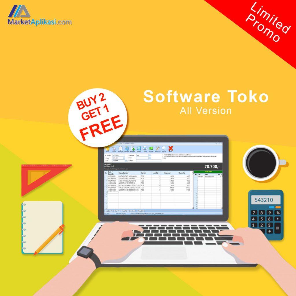 Promo Software Toko Beli 2 Gratis 1